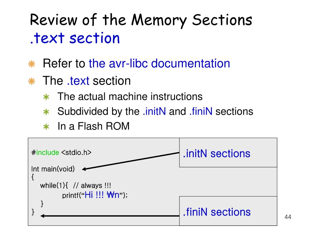 Review of the Memory Sections
