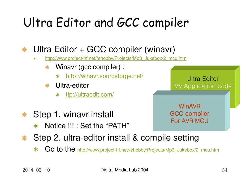 Ultra Editor and GCC compiler