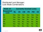 distributed lock manager lock mode combinations