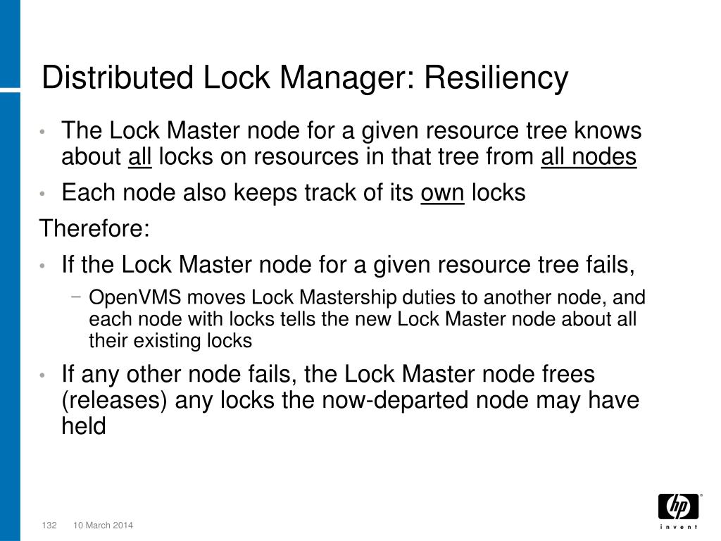 Distributed Lock Manager: Resiliency