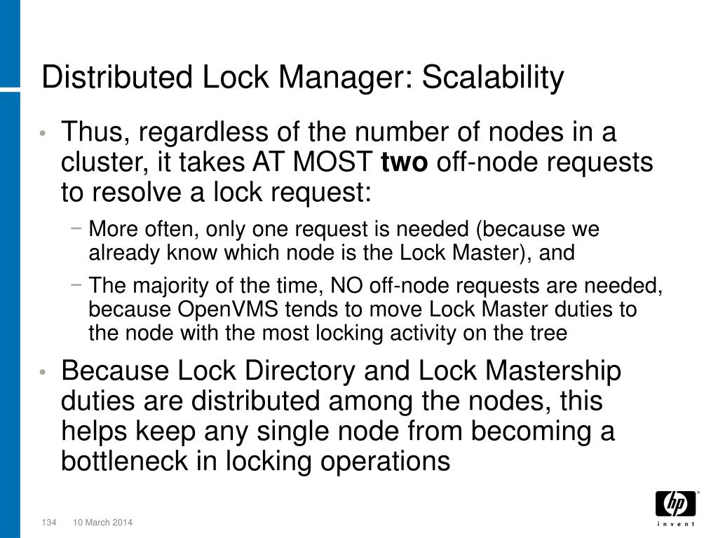 Distributed Lock Manager: Scalability