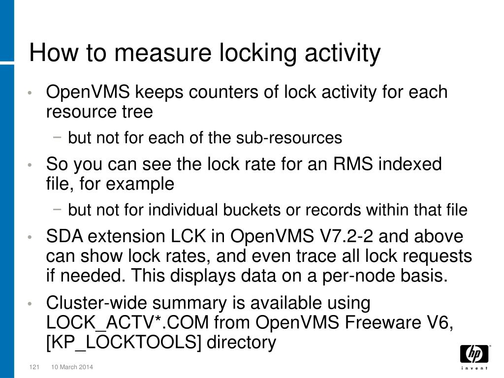 How to measure locking activity