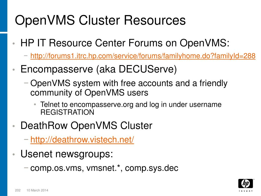 OpenVMS Cluster Resources