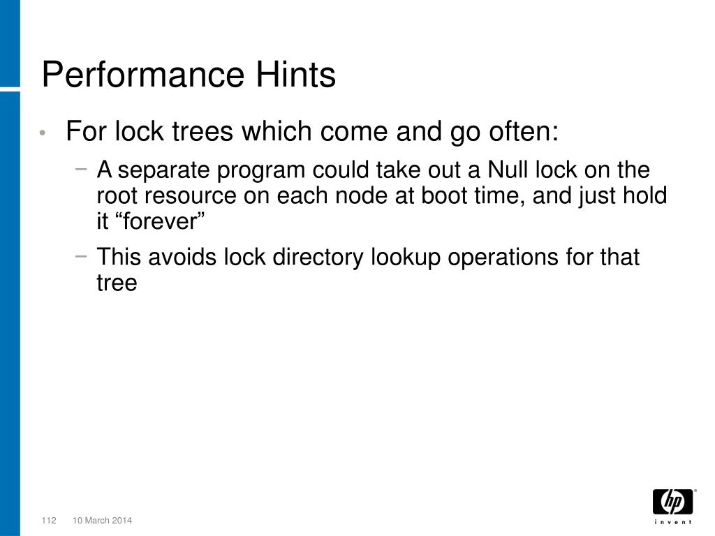 Performance Hints