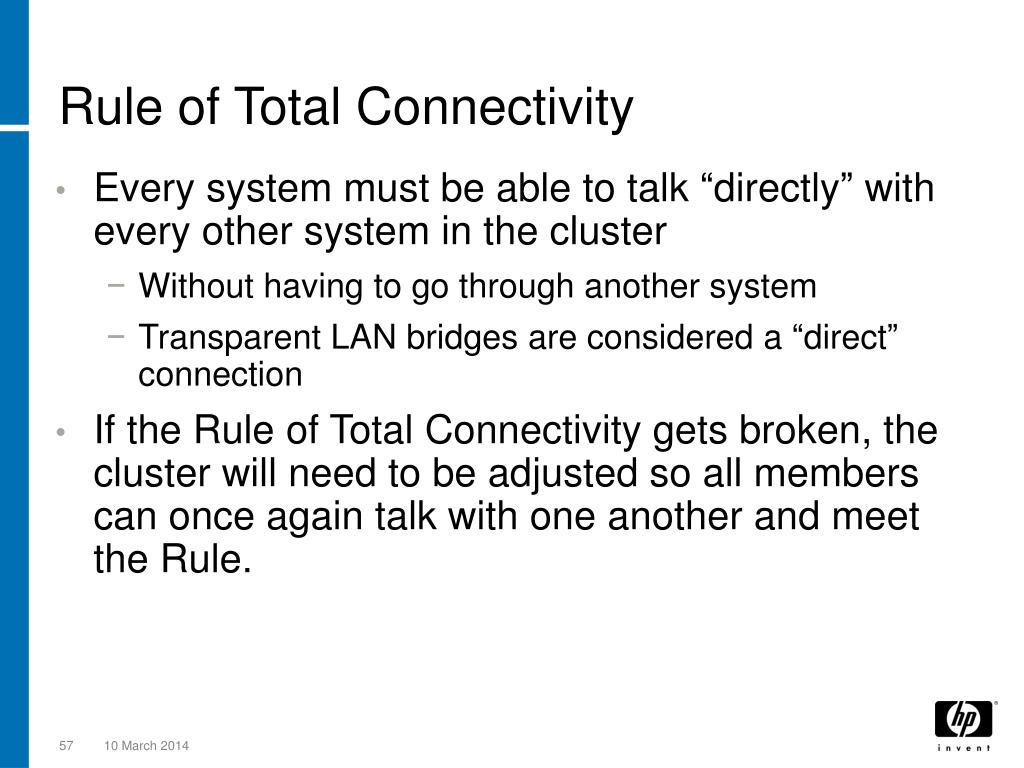 Rule of Total Connectivity