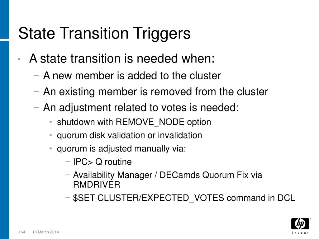 State Transition Triggers