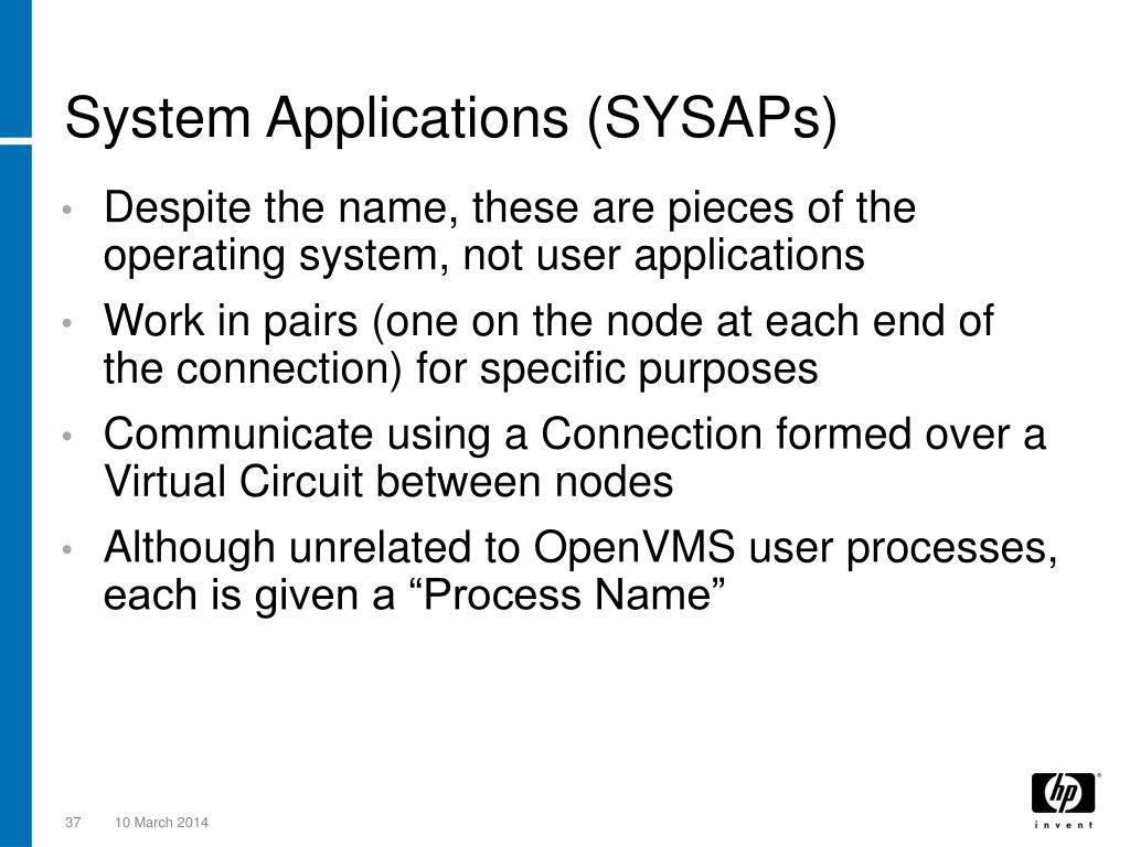 System Applications (SYSAPs)