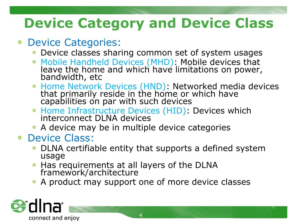 Device Category and Device Class