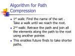 algorithm for path compression