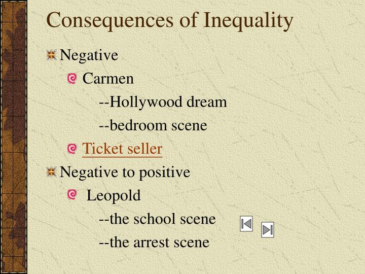 Consequences of Inequality