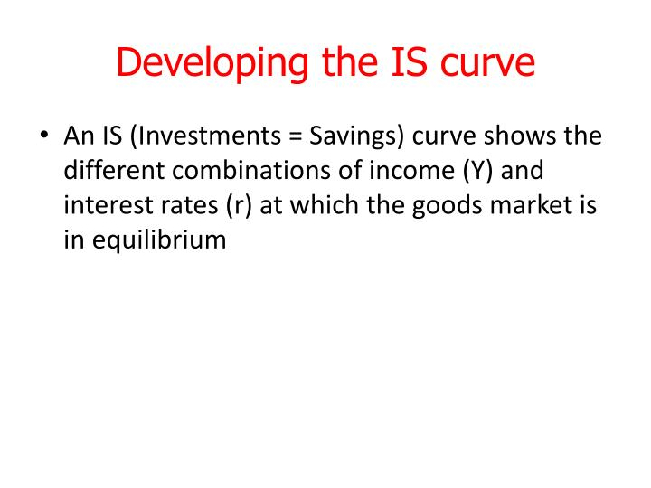 Developing the IS curve