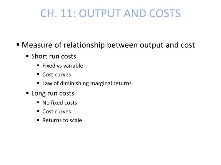 ch 11 output and costs n.