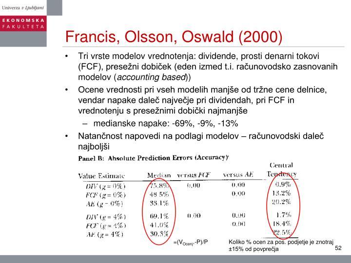 Francis, Olsson, Oswald (2000)