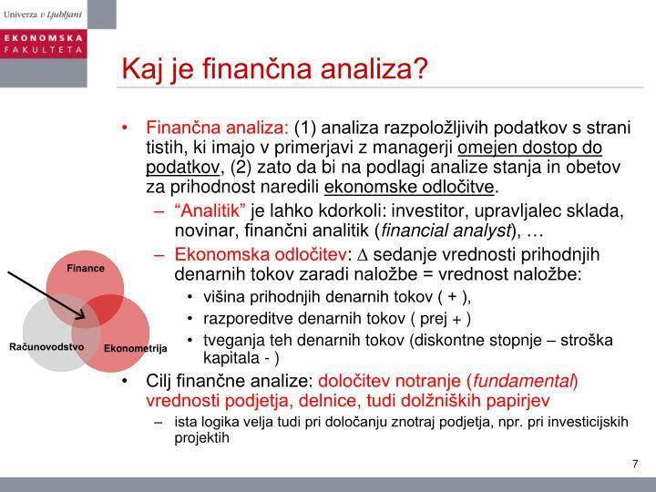 Kaj je finančna analiza?