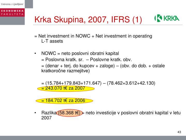 Krka Skupina, 2007, IFRS (1)