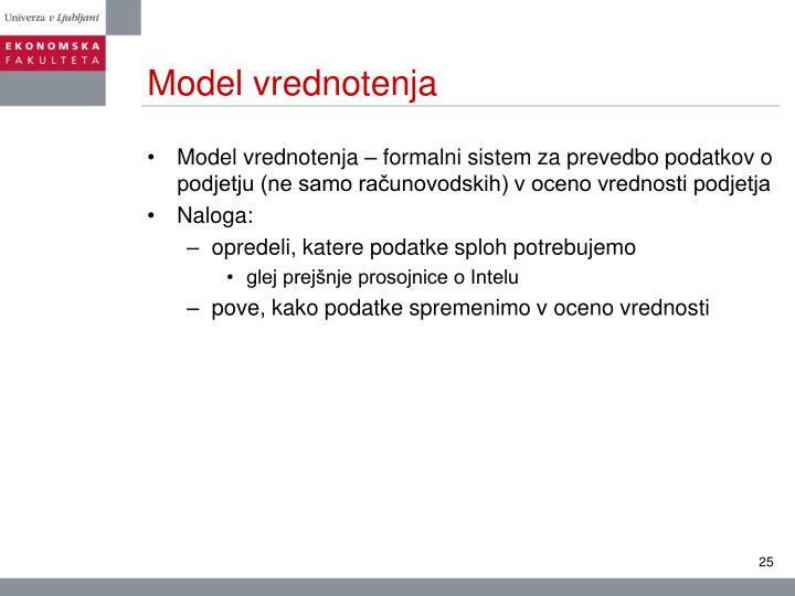 Model vrednotenja
