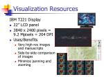 visualization resources