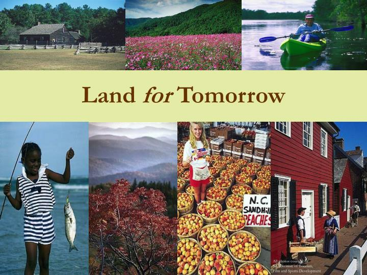 land for tomorrow n.