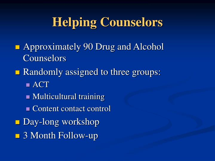 Helping Counselors