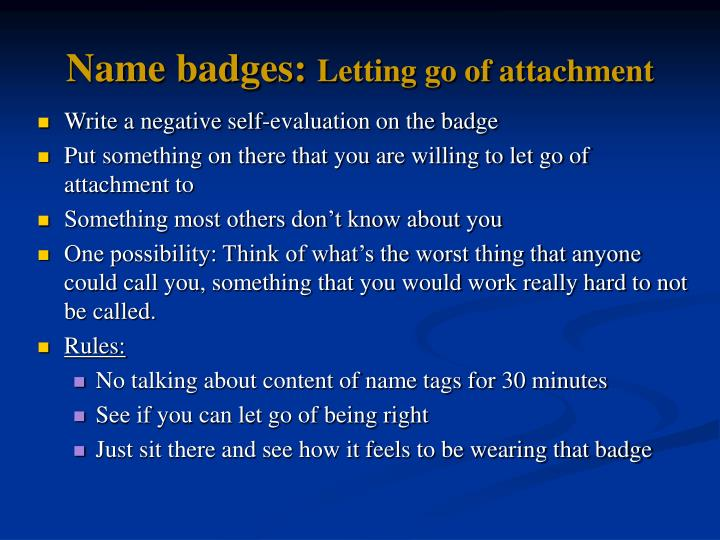 Name badges: