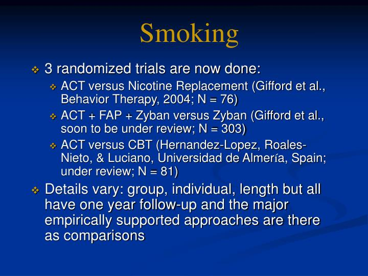 3 randomized trials are now done: