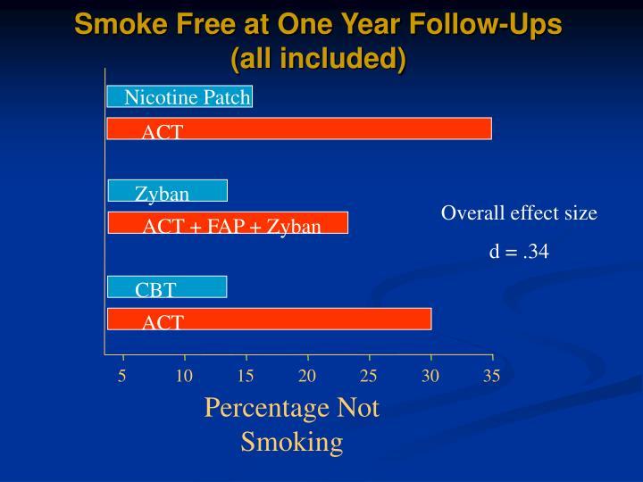 Smoke Free at One Year Follow-Ups