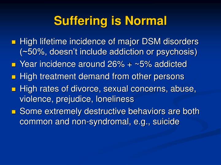 Suffering is Normal