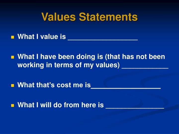 Values Statements