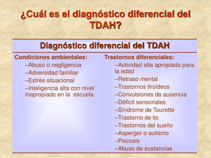 ¿Cuál es el diagnóstico diferencial del TDAH?