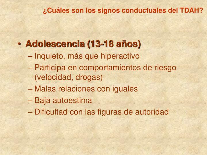 ¿Cuáles son los signos conductuales del TDAH?