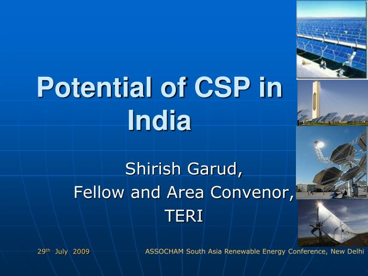 potential of csp in india n.
