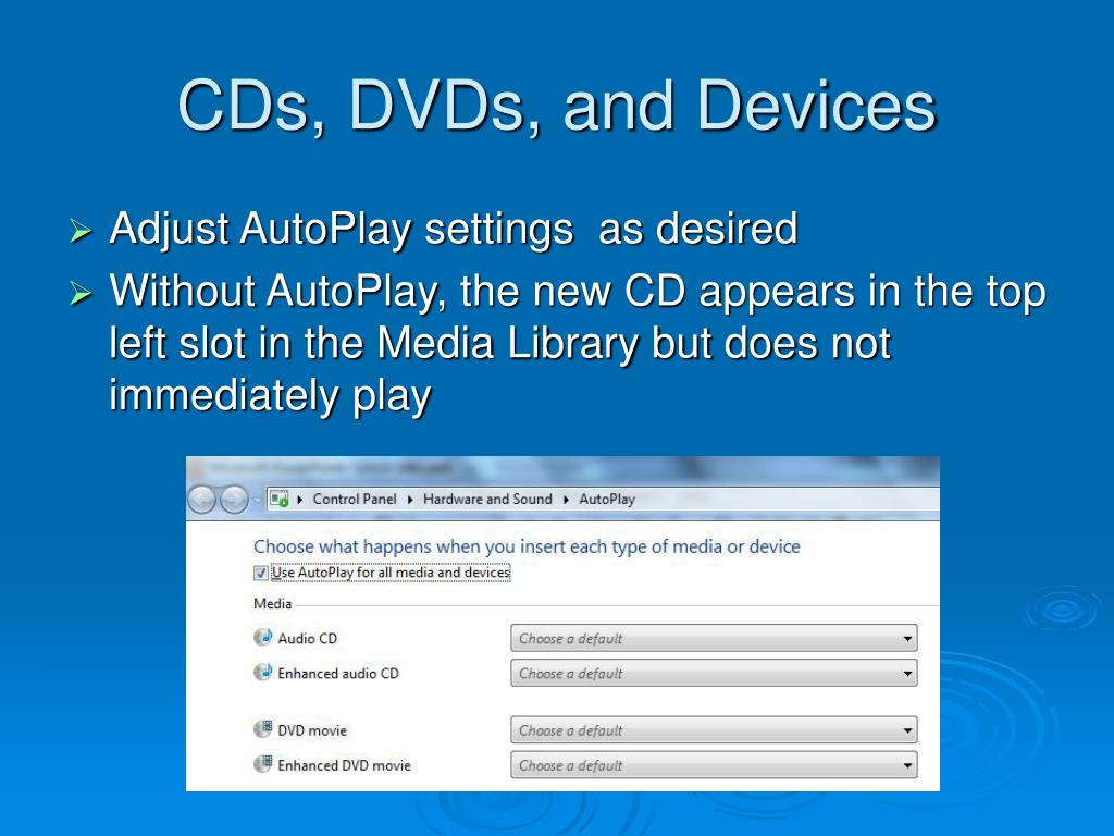 CDs, DVDs, and Devices