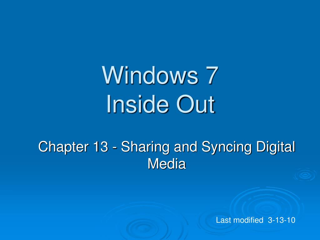 windows 7 inside out l.