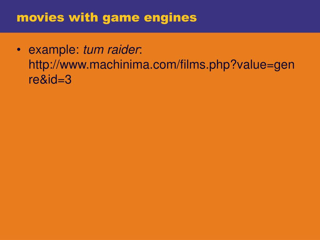 movies with game engines