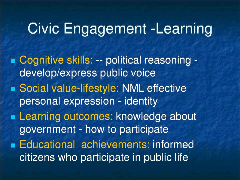 Civic Engagement -Learning