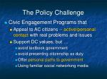 the policy challenge