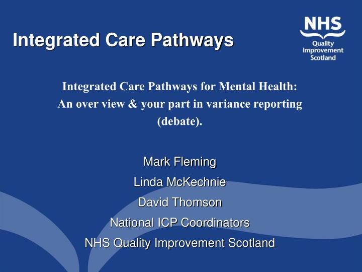 integrated care pathways n.