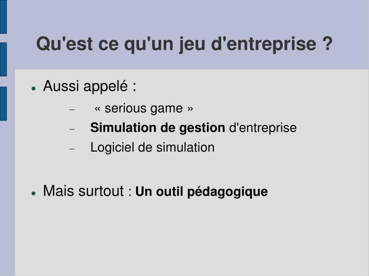 ppt les jeux d entreprise powerpoint presentation id