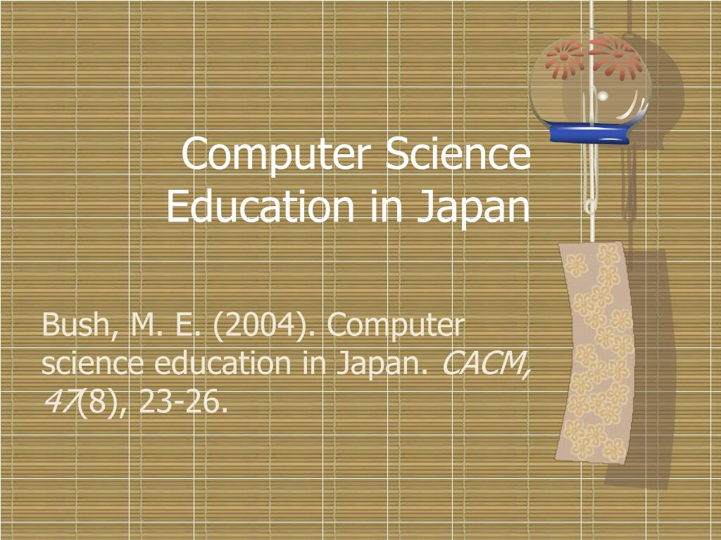 computer science education in japan l.
