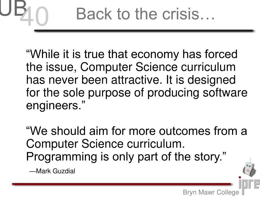 Back to the crisis…