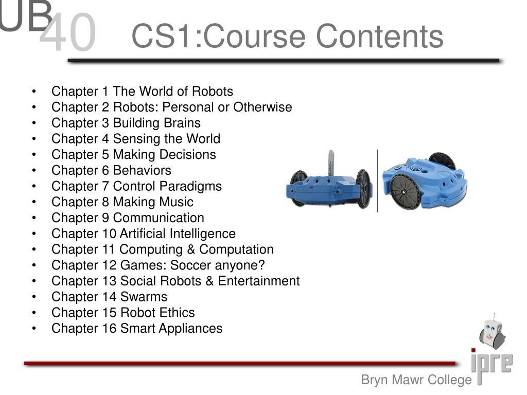 CS1:Course Contents