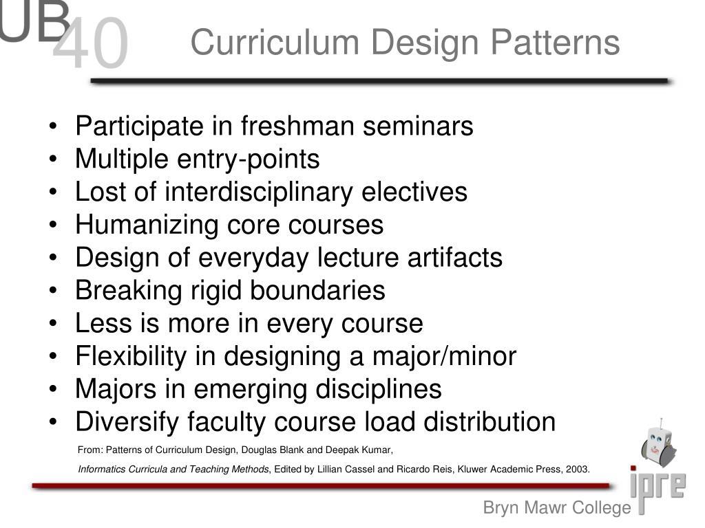 Curriculum Design Patterns