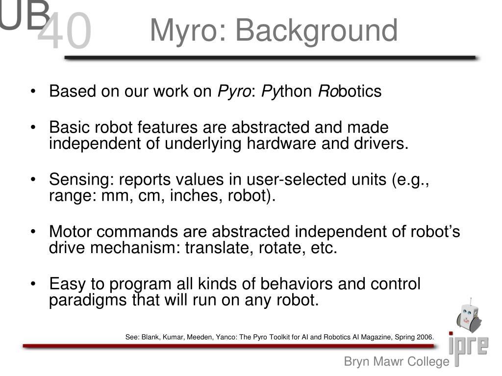 Myro: Background