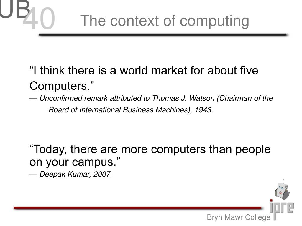The context of computing