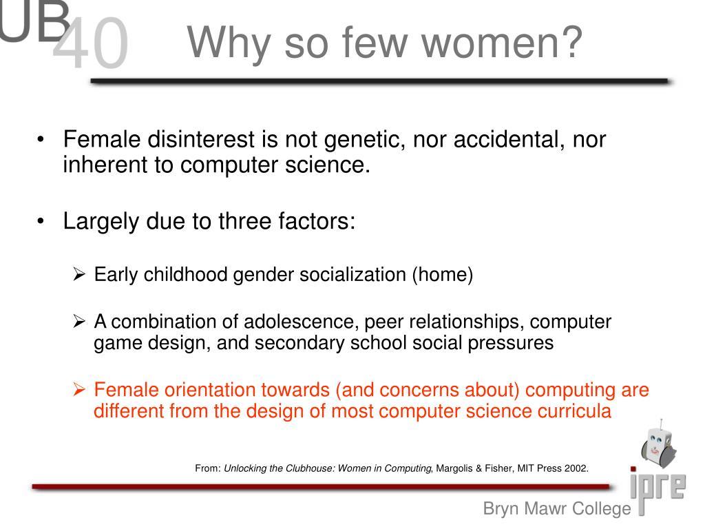 Why so few women?