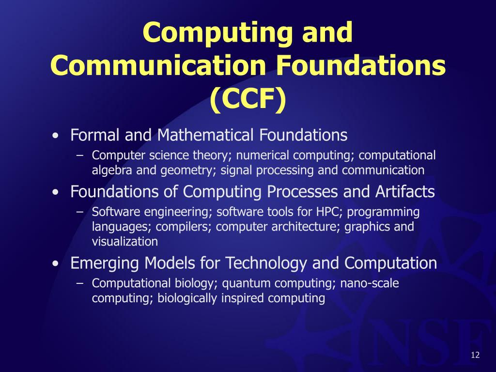Computing and Communication Foundations (CCF)