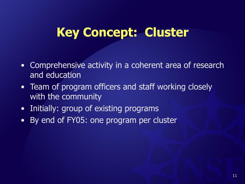 Key Concept:  Cluster