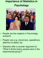 importance of statistics in psychology