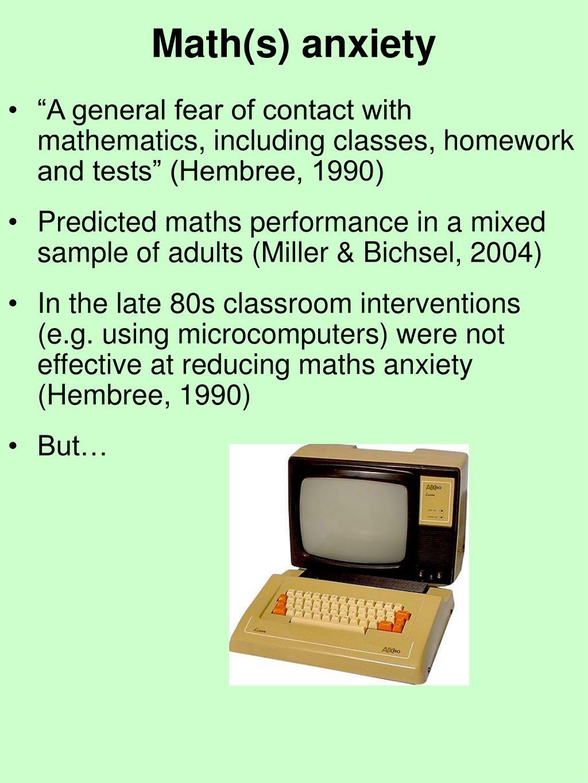 Math(s) anxiety