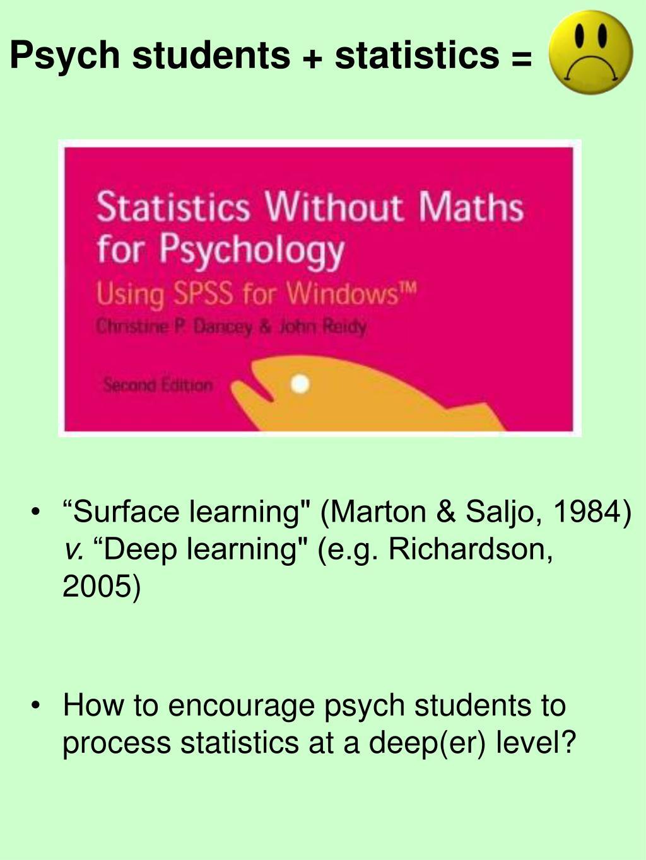 Psych students + statistics =